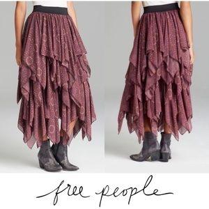 Free People | Cascading Gypsy Georgette Skirt